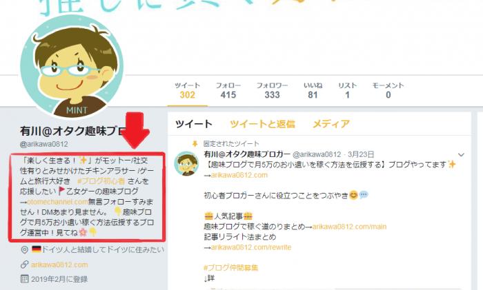 プロフTwitter